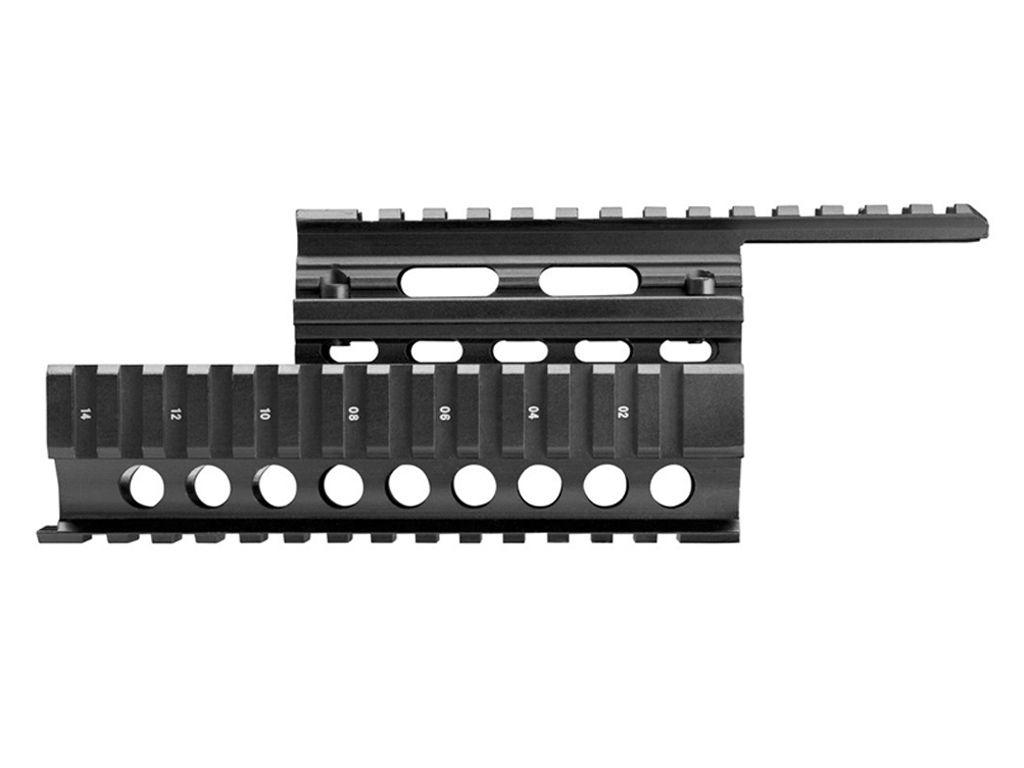 AK-47 Romanian Black Anodized Quad Rail Mount