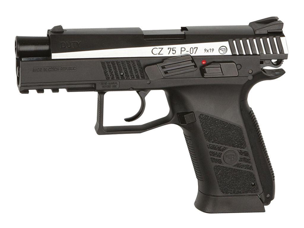 ASG CZ 75 P-07 Duty CO2 Blowback Steel BB Pistol