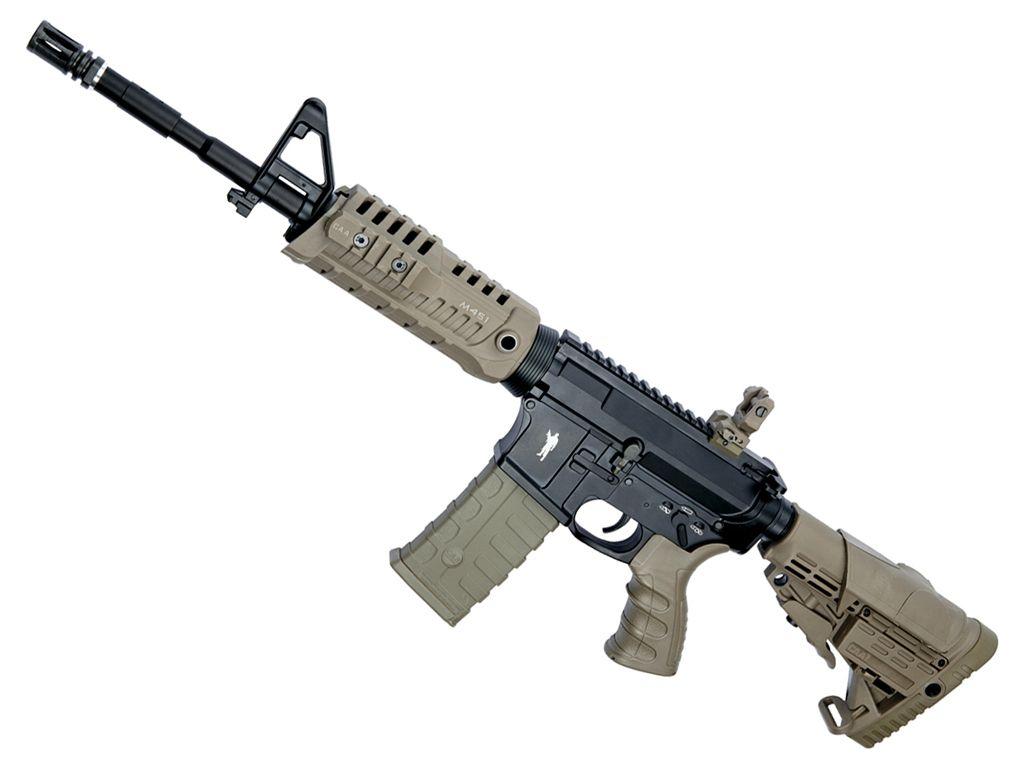 m4 airsoft caa asg rifle tan aeg proline shooting test field gun bb replicaairguns pellet replica