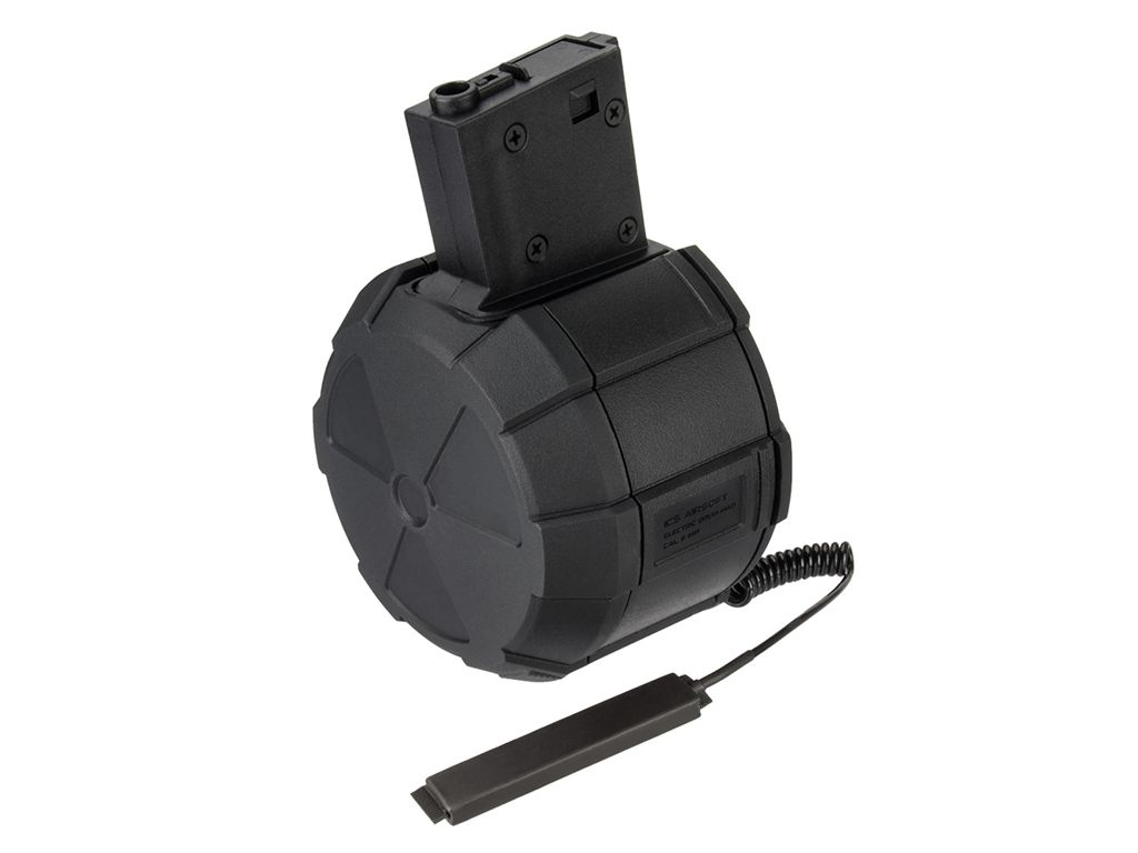 ICS 2000rd 6mm Electric Drum Magazine with M4 Adapter