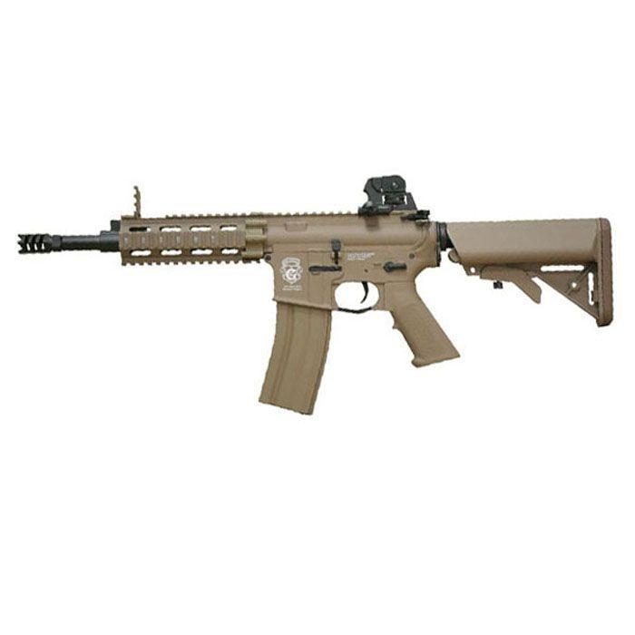 G&G GR16 CQW Rush Plastic Desert Tan Blowback Rifle