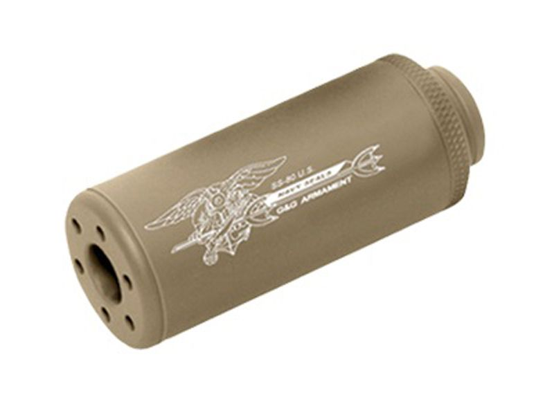 G&G SS-80 CW Desert Tan Sound Suppressor - 14mm