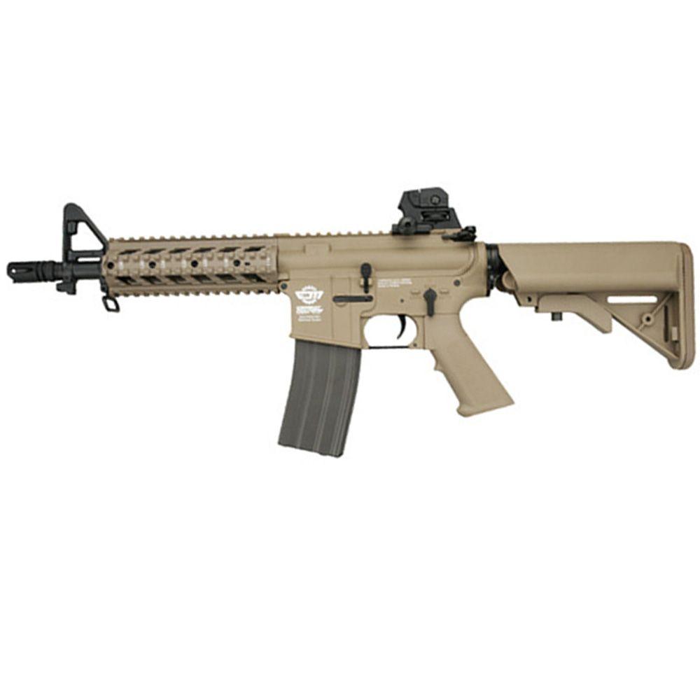 G&G CM16 M4 Combat Machine CQB Raider-S Tan Airsoft Rifle