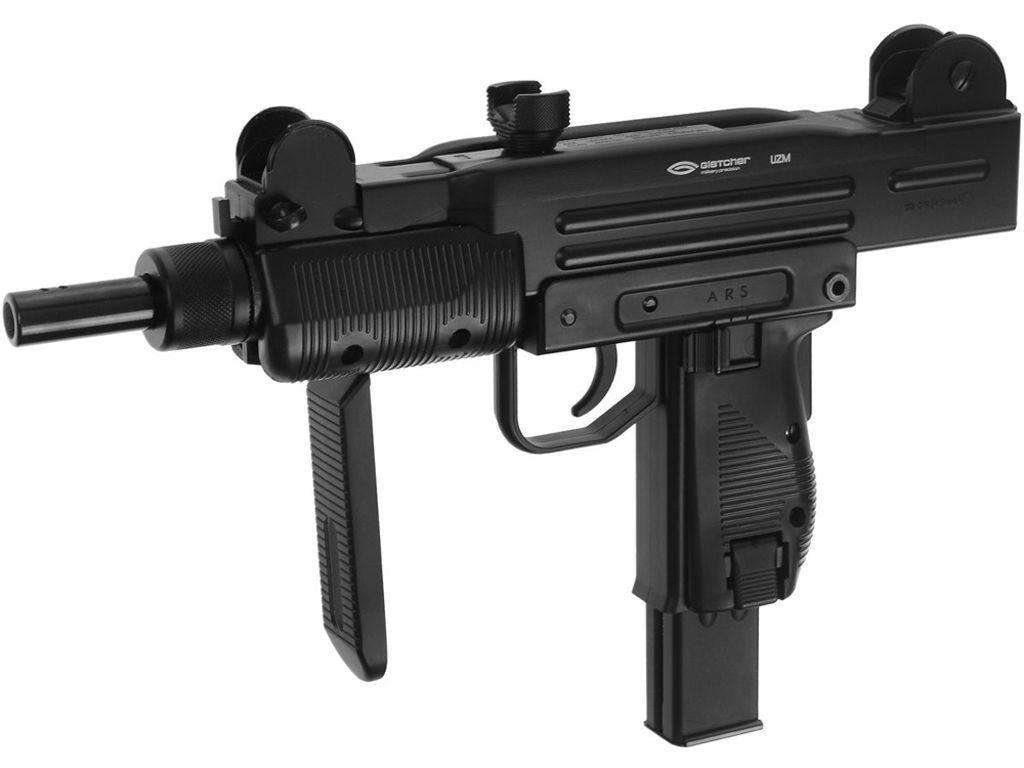 Gletcher UZM CO2 Blowback Steel BB Pistol