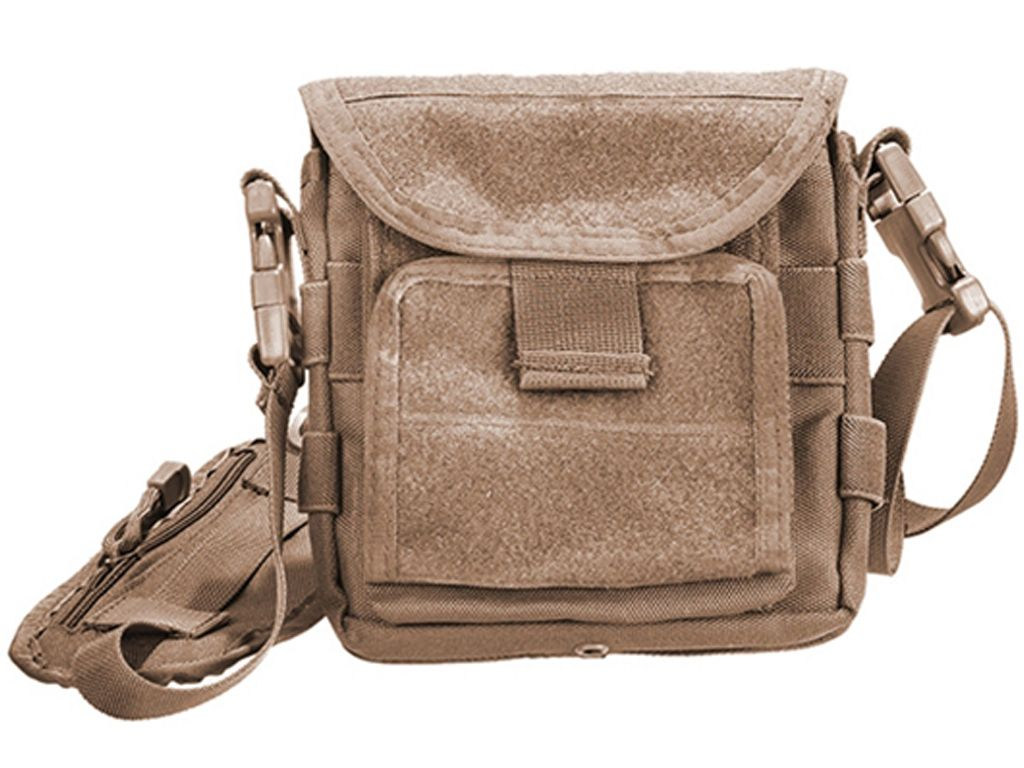 Shoulder Map Tan Bag