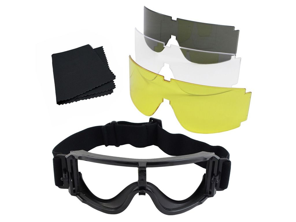 Gear Stock Multi-Lens Airsoft Goggles