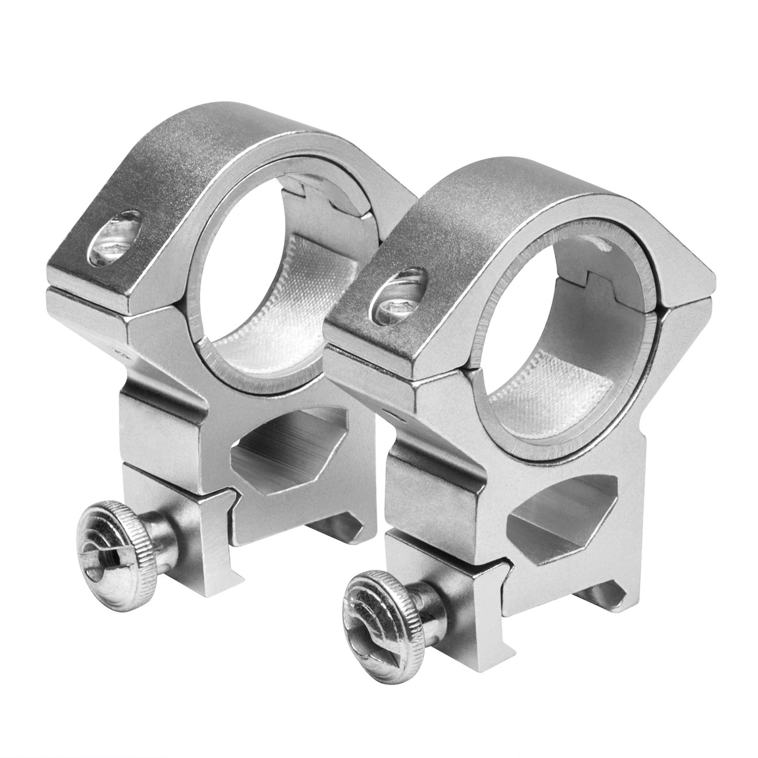 Ncstar Silver 30Mm 1 Inch Inserts Weaver Ring