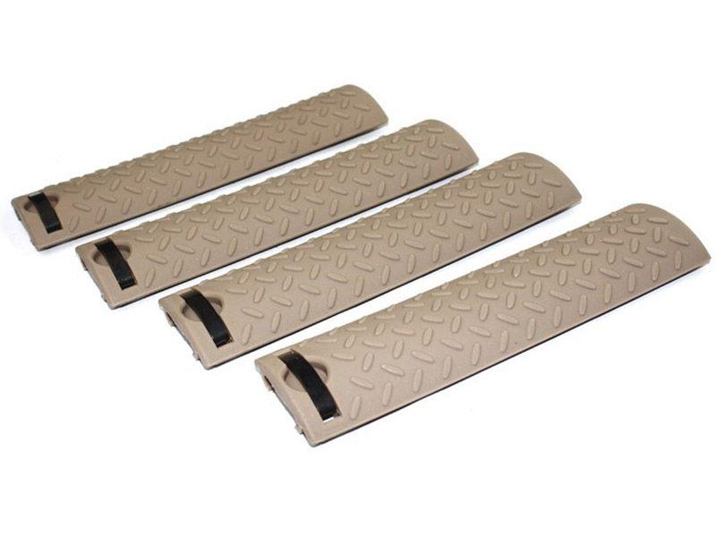 Ergo Rail Cover Diamond Plate (4 Piece Set)