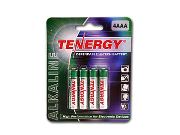 Tenergy 1.5V Alkaline AAA Batteries - 4 Pack