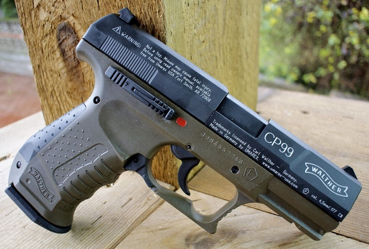 Walther 2252203 cp99 military olive air pistol replicaairguns ca