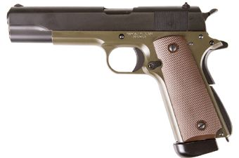 KJ Works M1911 Full Metal Blowback Olive CO2 Airsoft Pistol