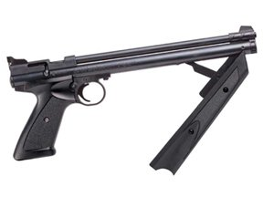 Crosman 1322 Multi Pump .22 Cal Pellet Pistol With Shoulder Stock