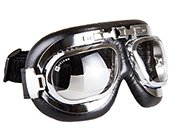 Aviator Goggles WW2 Style Chrome