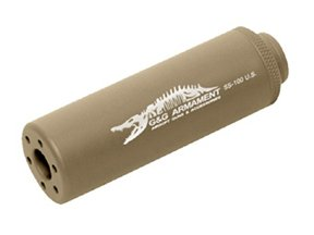 G&G SS-100 CCW Desert Tan Sound Suppressor - 14mm
