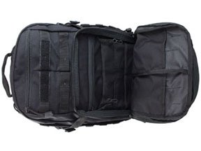 Tactical MOLLE Black 1/2 Day Backpack
