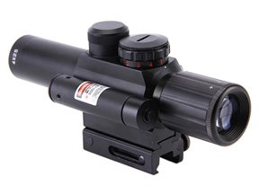 M6 4x25 Mil-Dot Rifle Scope w/ Red Laser