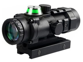 3x32 Fiber Optic Green Illuminated Prism Scope