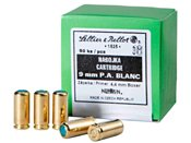 9mm PA Blank Ammo Box of 50