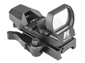 NcStar Green/Red 4 Reticles Reflex Sight with Mount - Black